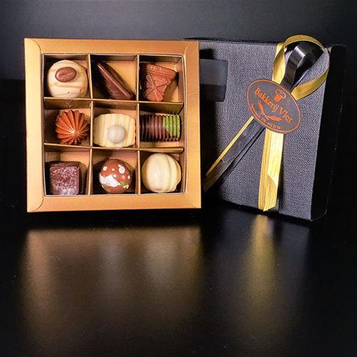 Afbeelding van Bonbon doosjes gevuld met 9 bonbons
