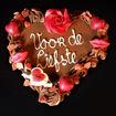 Afbeelding van Chocolade hart Klein Tekst naar keuze