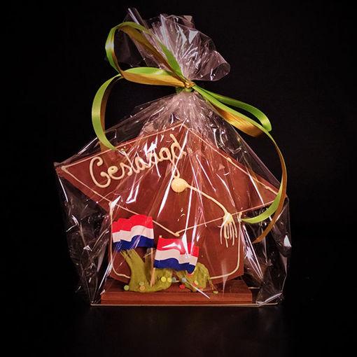 Afbeelding van Chocolade geslaagd /afgestudeerd Handgemaakt