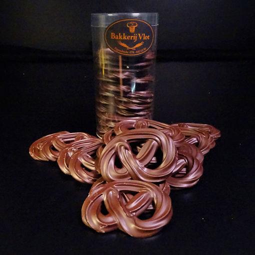 Afbeelding van Chocolade Krakelingen Puur Handgespoten Kokertje