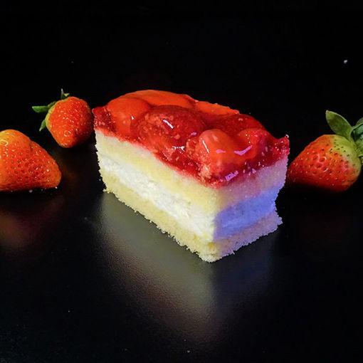 Afbeelding van Gluten en lactosevrij Aardbeiengebakje