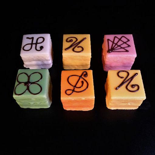 Afbeelding van Mini Gebak vierkant Decor