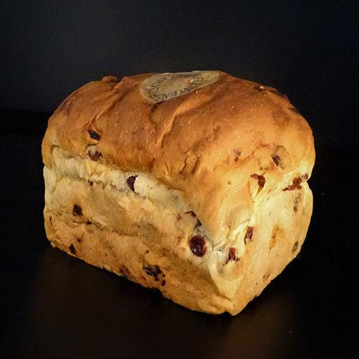 Afbeelding van Rozijnenbrood met amandelspijs